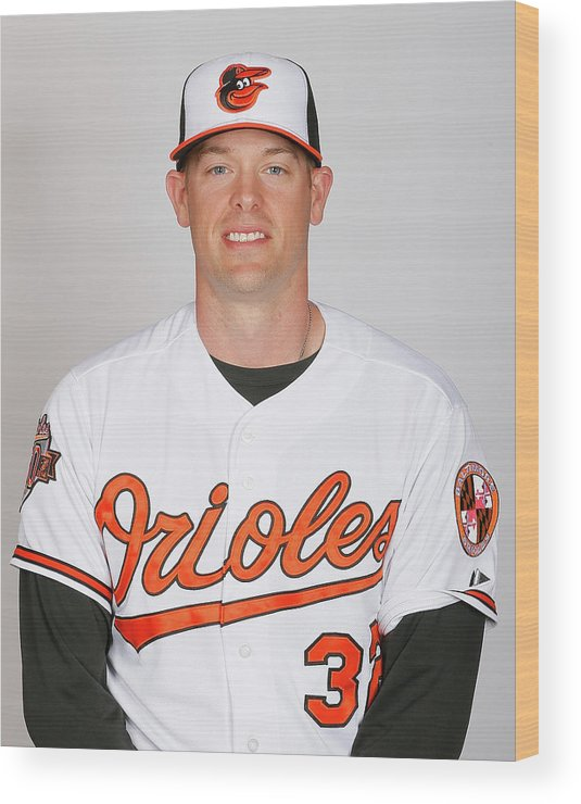 Media Day Wood Print featuring the photograph Matt Wieters by Kevin C. Cox