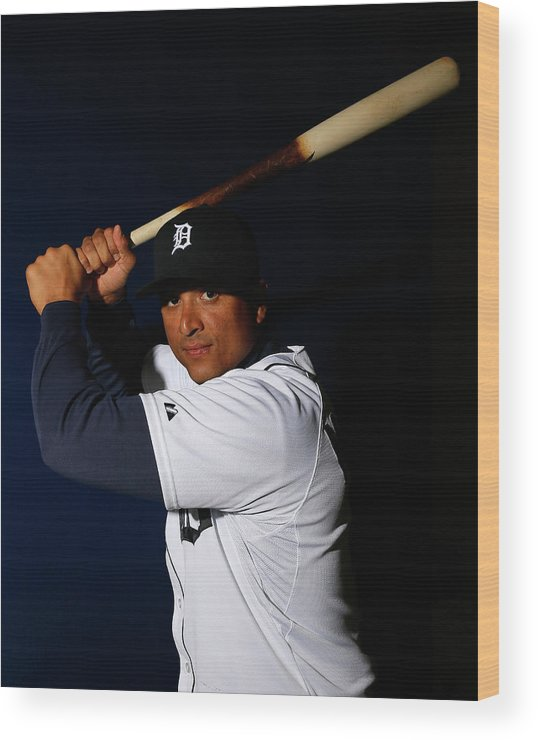 Media Day Wood Print featuring the photograph Victor Martinez by Kevin C. Cox