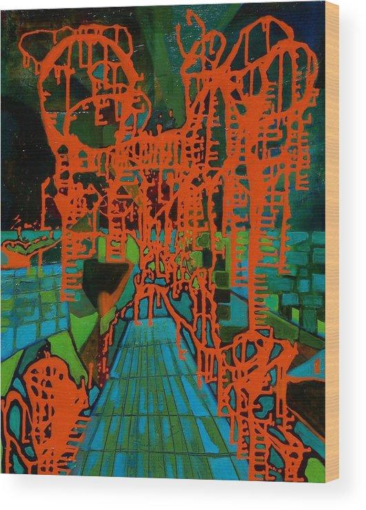 Lanscape Wood Print featuring the print Orange Palas by Meltem Quinlan