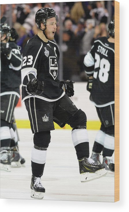 Playoffs Wood Print featuring the photograph 2014 Nhl Stanley Cup Final - Game Two by Harry How