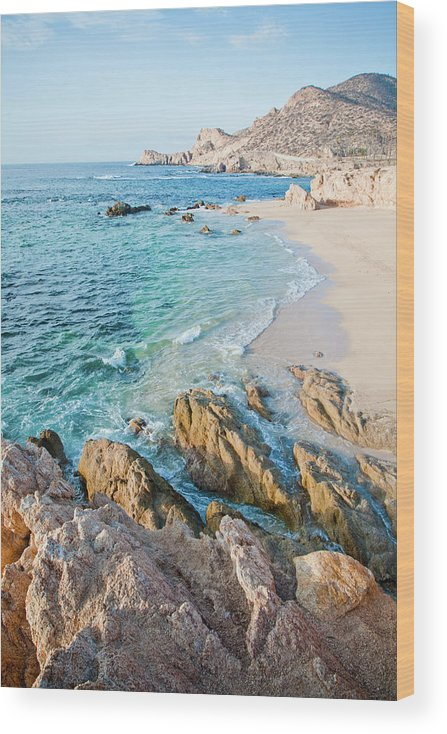 Water's Edge Wood Print featuring the photograph Chilino Bay by Christopher Kimmel