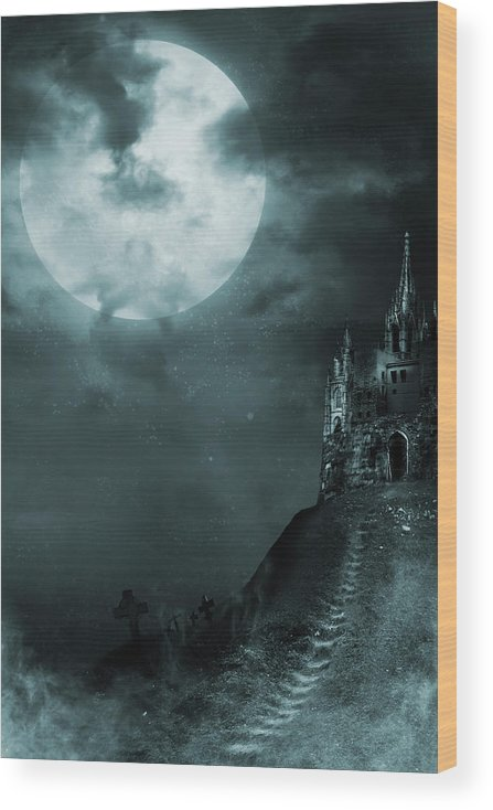 Gothic Style Wood Print featuring the photograph Old Castle by Vladgans