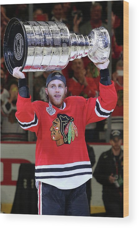 Playoffs Wood Print featuring the photograph 2015 Nhl Stanley Cup Final - Game Six by Tasos Katopodis