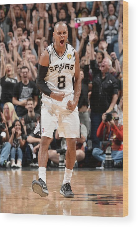 Playoffs Wood Print featuring the photograph Miami Heat V San Antonio Spurs - 2014 by Andrew D. Bernstein
