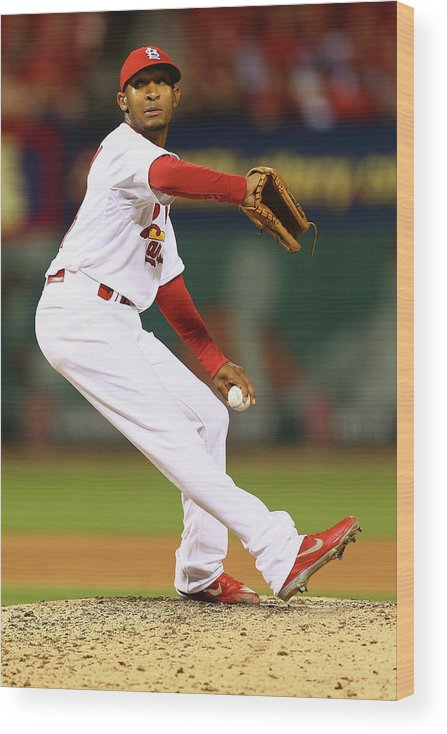 St. Louis Cardinals Wood Print featuring the photograph San Francisco Giants V St. Louis by Dilip Vishwanat