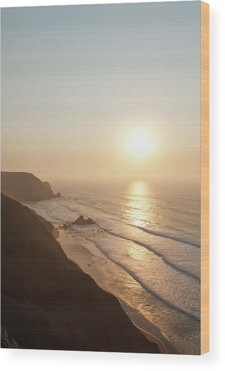 Algarve Wood Print featuring the photograph Portugal, Algarve, Sagres, View Of by Westend61
