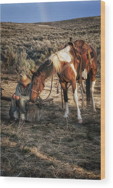 Sombrero Ranch Wood Print featuring the photograph A Cowgirls Best Friend by Pamela Steege