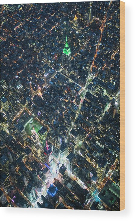 Outdoors Wood Print featuring the photograph Aerial Photography Of Bloadway In Dusk by Michael H