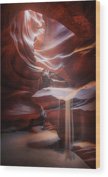 Usa Wood Print featuring the photograph Antelope Sandfall by Clara Gamito