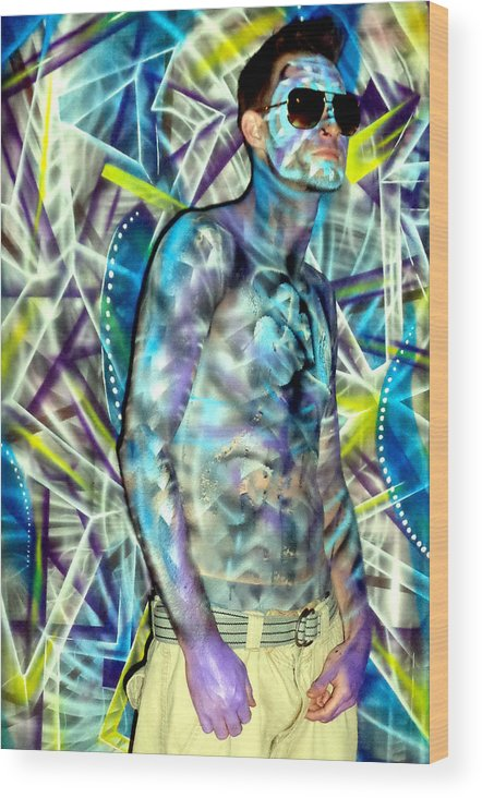 Body Paint Wood Print featuring the mixed media Arden by Leigh Odom