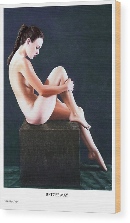 Joseph Ogle Wood Print featuring the painting Betcee May prints only by Joseph Ogle