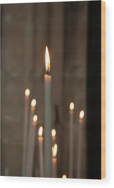 Burning Wood Print featuring the photograph Candles by Martine Roch