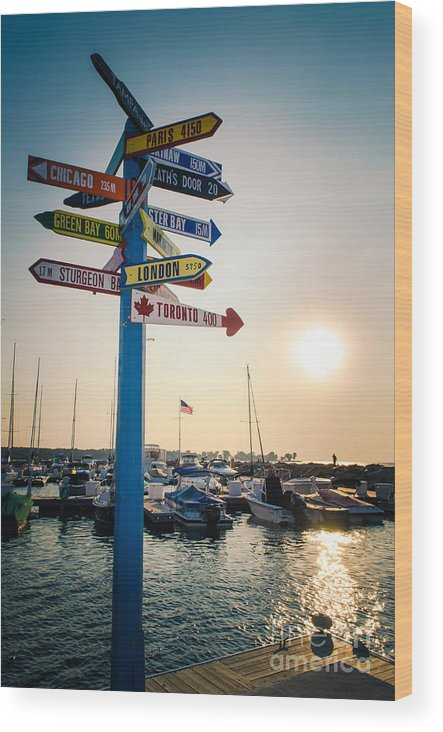 Door County Wood Print featuring the photograph Destination Egg Harbor by Ever-Curious Photography