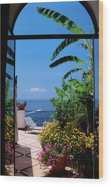 Tranquility Wood Print featuring the photograph Doorway To Terrace At Hotel Punta by Dallas Stribley