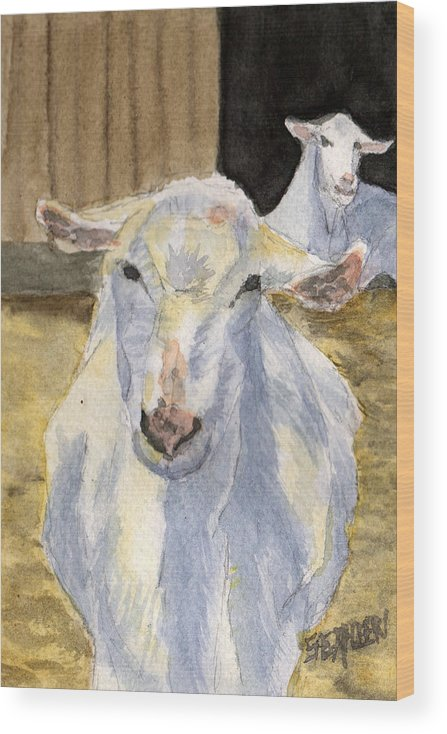 Goat Wood Print featuring the painting Good Morning by Sharon E Allen