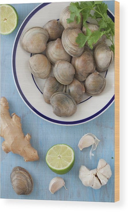 Newtown Wood Print featuring the photograph Green Curry, Coconut, Garlic & Ginger by Yelena Strokin