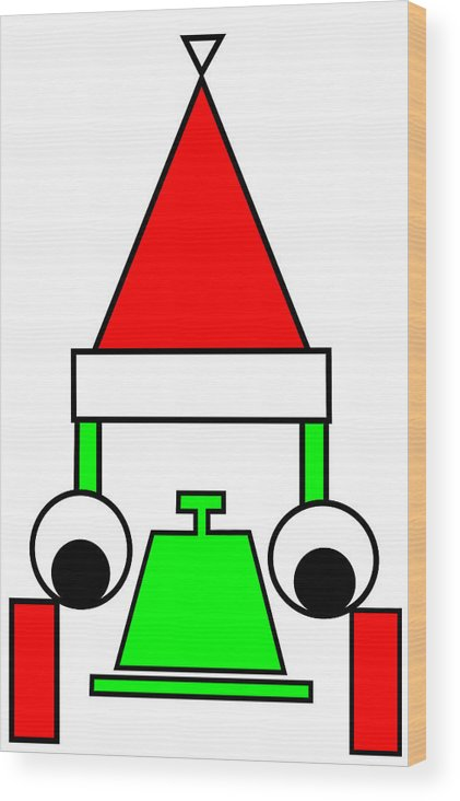 Happy Henry Wishes You A Merry Christmas Wood Print featuring the digital art Happy Henry wishes you a Merry Christmas by Asbjorn Lonvig