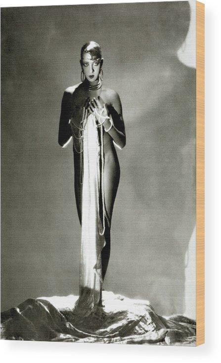 129097 Wood Print featuring the photograph Josephine Baker by George Hoyningen-Huene
