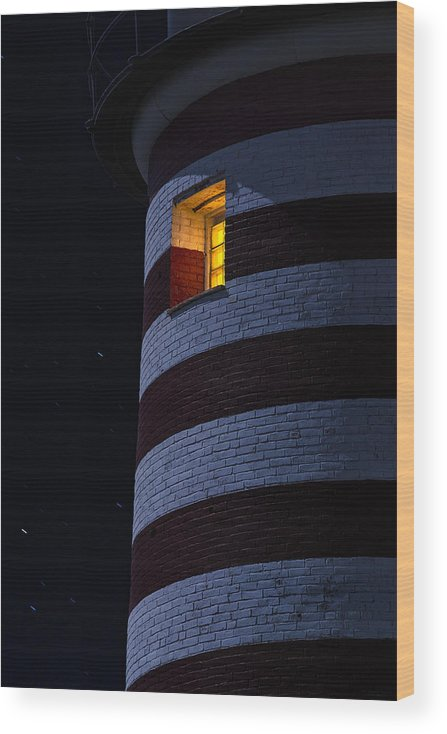 Lighthouse Wood Print featuring the photograph Light From Within by Marty Saccone