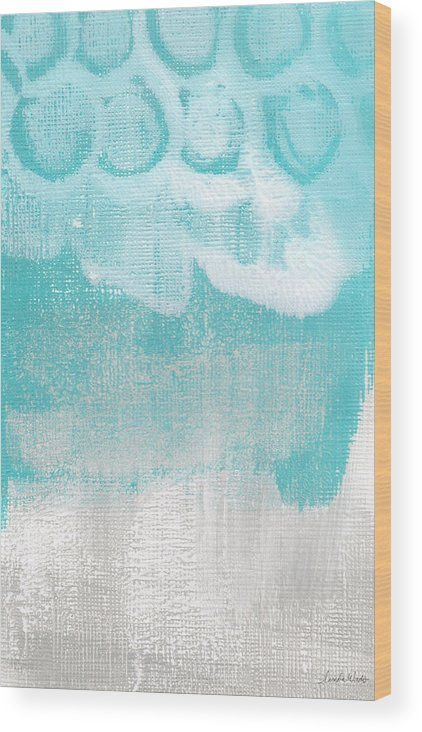 Abstract Wood Print featuring the painting Like A Prayer- Abstract Painting by Linda Woods