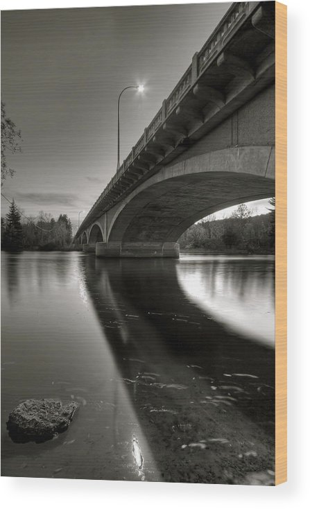 Water Wood Print featuring the photograph Long Crossing by Bryan Benson