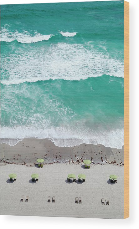 Vacations Wood Print featuring the photograph Overhead Wide Angle Of The Beach by Bauhaus1000
