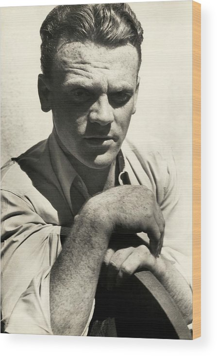 Actor Wood Print featuring the photograph Portrait Of Actor James Cagney by Imogen Cunningham