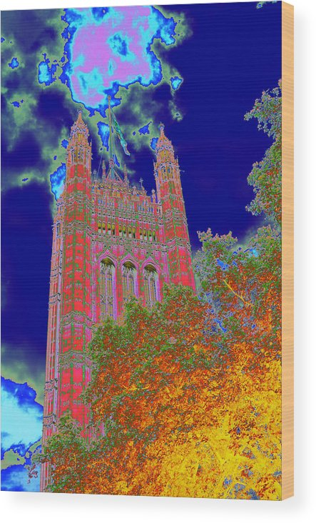 Westminster Wood Print featuring the photograph Psychedelic Westminster by Richard Henne