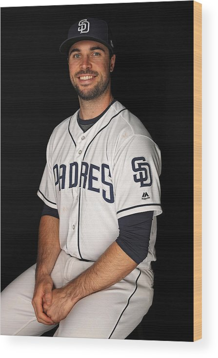Media Day Wood Print featuring the photograph San Diego Padres Photo Day by Patrick Smith