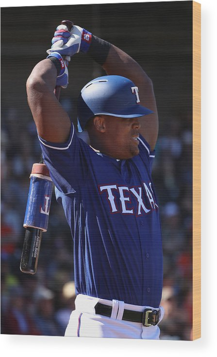 Adrian Beltre Wood Print featuring the photograph San Francisco Giants v Texas Rangers by Christian Petersen