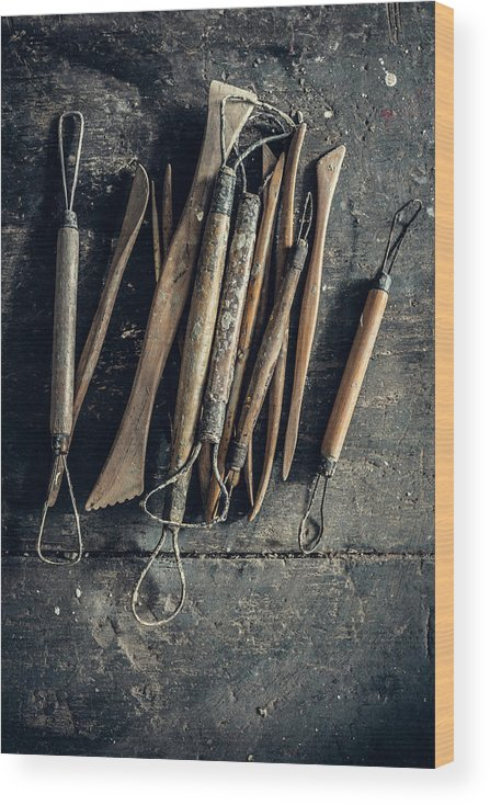 Art Wood Print featuring the photograph Sculpting Tools by Alexd75