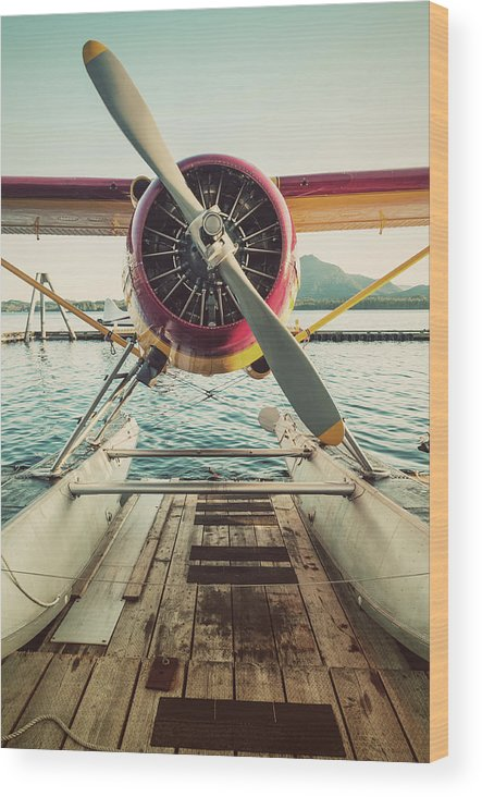 Propeller Wood Print featuring the photograph Seaplane Dock by Shaunl