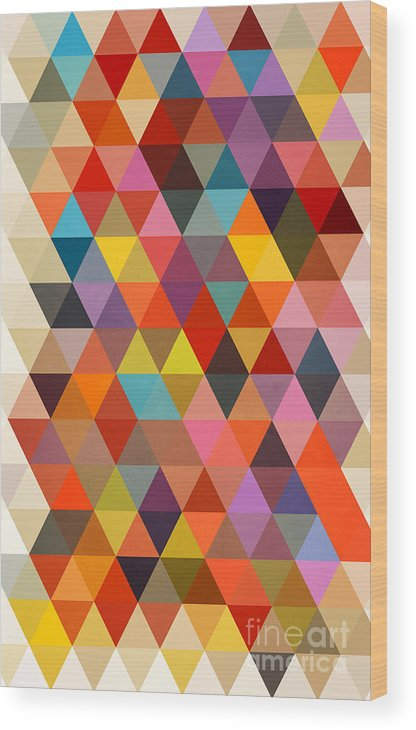 Contemporary Wood Print featuring the painting Shapes by Mark Ashkenazi