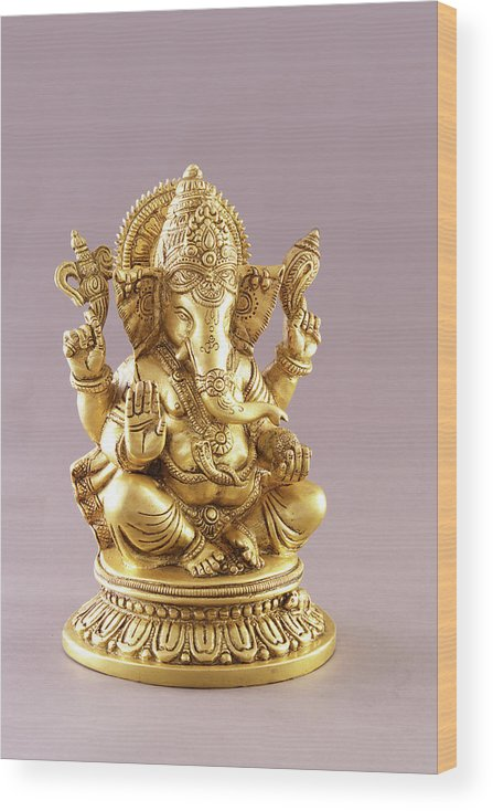Spirituality Wood Print featuring the photograph Statue Of Lord Ganesh by Visage