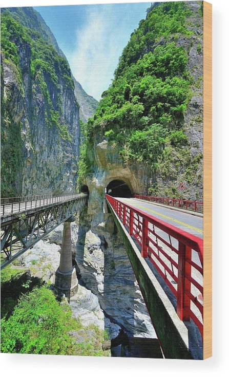 Built Structure Wood Print featuring the photograph Taroko Gorge by Photography By Anthony Ko