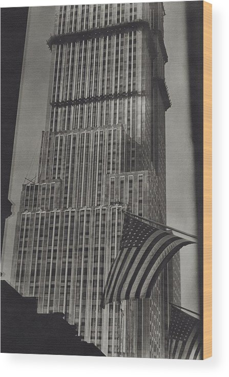 Empire State Building Wood Print featuring the photograph The Empire State Building In New York City by Sherril Schell