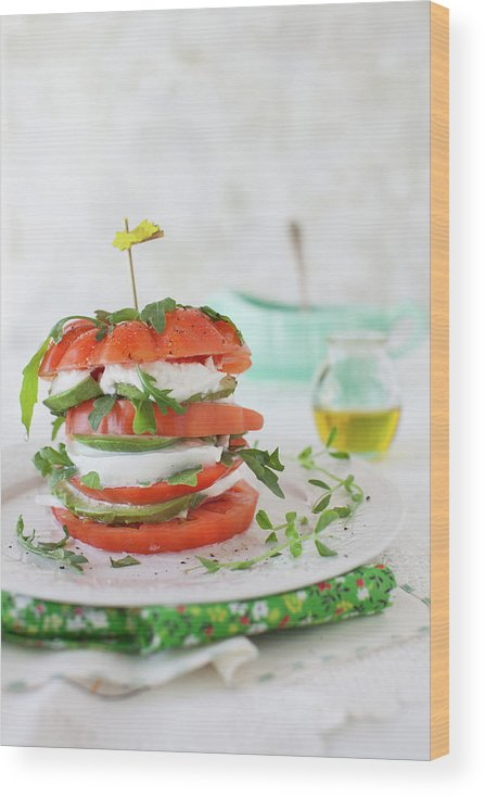 Newtown Wood Print featuring the photograph Tomato Salad by Yelena Strokin