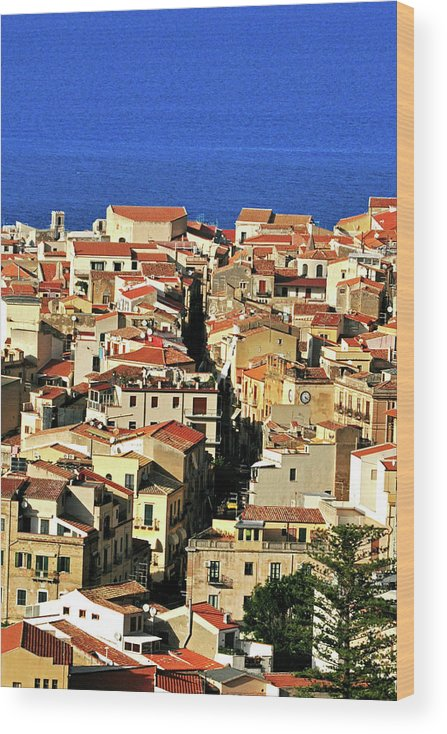 Tyrrhenian Sea Wood Print featuring the photograph Veins Of Cefalu by Image Brought To You Through The Eye Of Andrew Parker