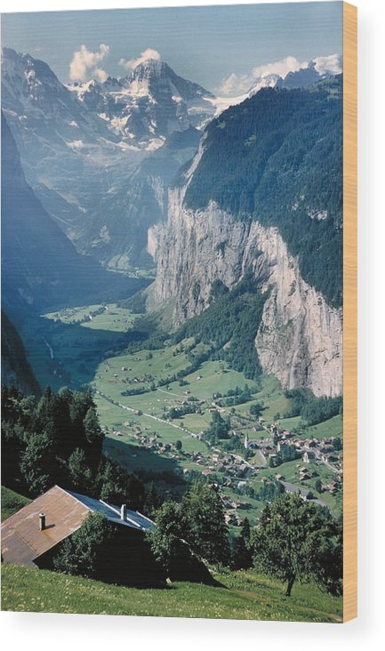 Alps Wood Print featuring the photograph Amazing View of Swiss Valley by Carl Purcell
