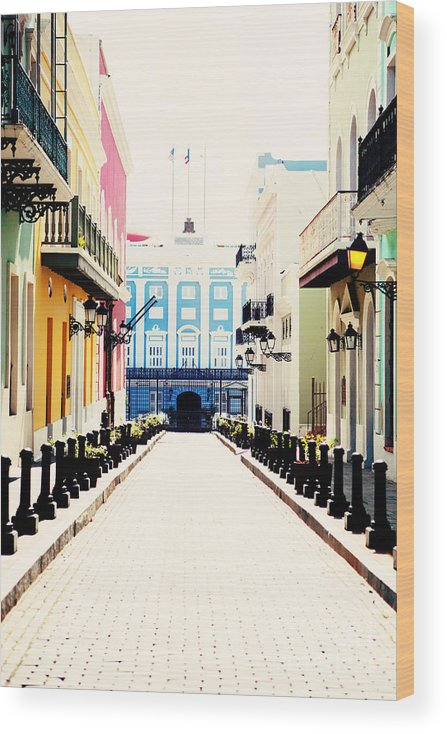 San Juan Wood Print featuring the photograph Old San Juan Puerto Rico by Kim Fearheiley
