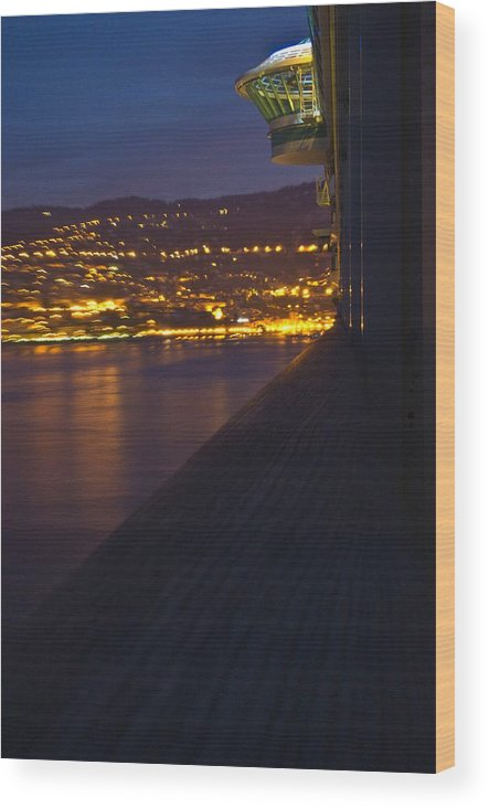 Alien Wood Print featuring the photograph Alien Spacecraft Over Villefranche by Richard Henne