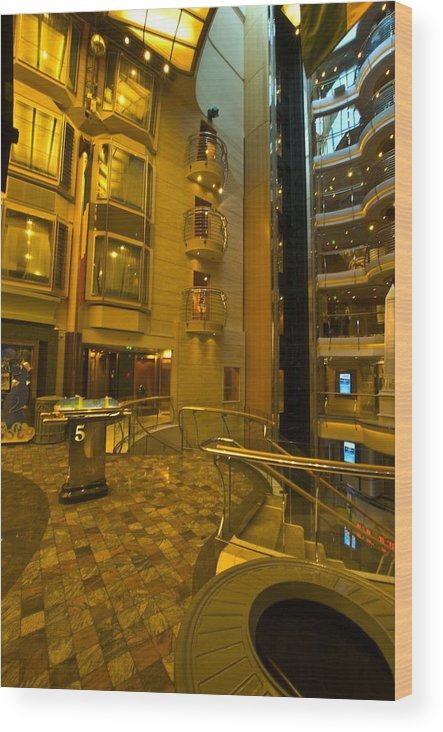 Liberty Of The Seas Wood Print featuring the photograph Big Ship Cityscape by Richard Henne