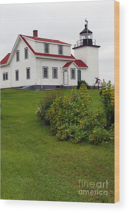 Fort Point Lighthouse Wood Print featuring the photograph Fort Point Lighthouse by Brenda Giasson