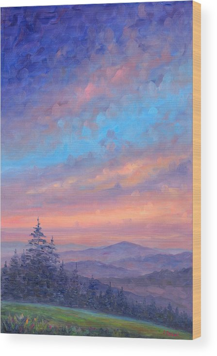 Sunset Wood Print featuring the painting Parkway Glow II by Jeff Pittman