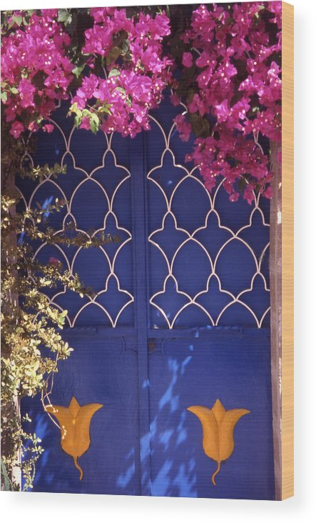 Greece Wood Print featuring the photograph Koskinou Bougainvillea by Steve Outram