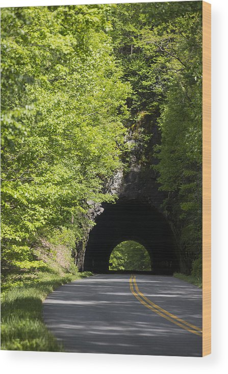 Highway Wood Print featuring the photograph Blue Ridge Parkway by Keith May