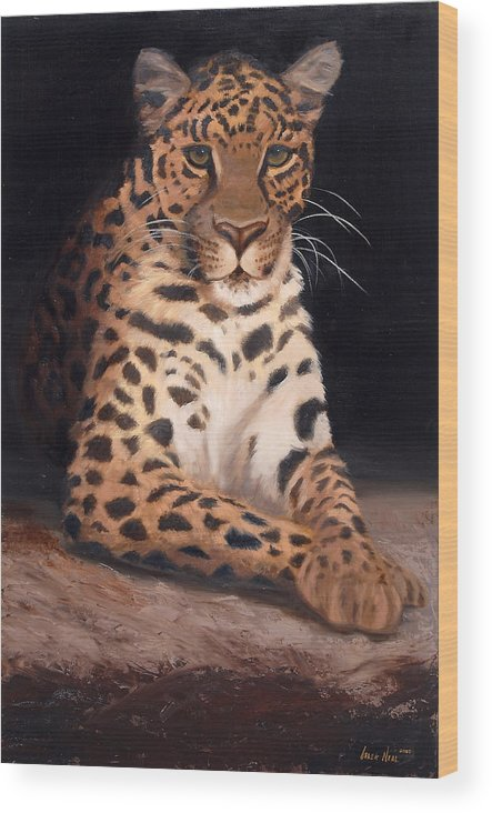 Wildlife Wood Print featuring the painting Intrigued by Greg Neal