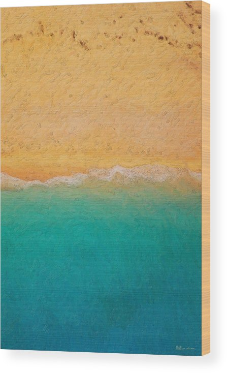 �not Quite Rothko� Collection By Serge Averbukh Wood Print featuring the photograph Not quite Rothko - Surf and Sand by Serge Averbukh