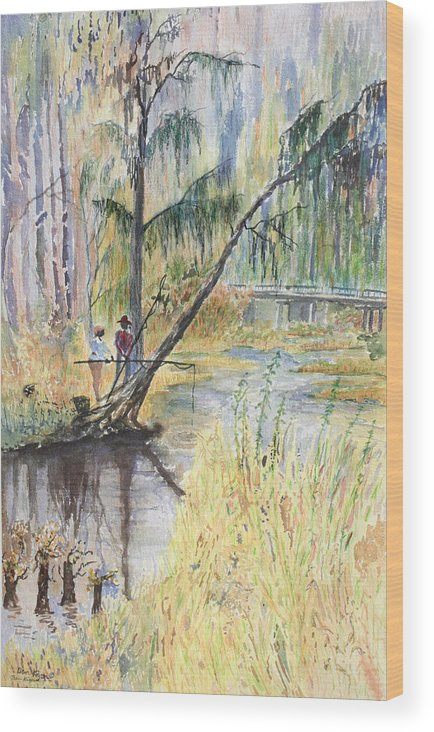 Low Country Wood Print featuring the painting Summertime by Ben Kiger