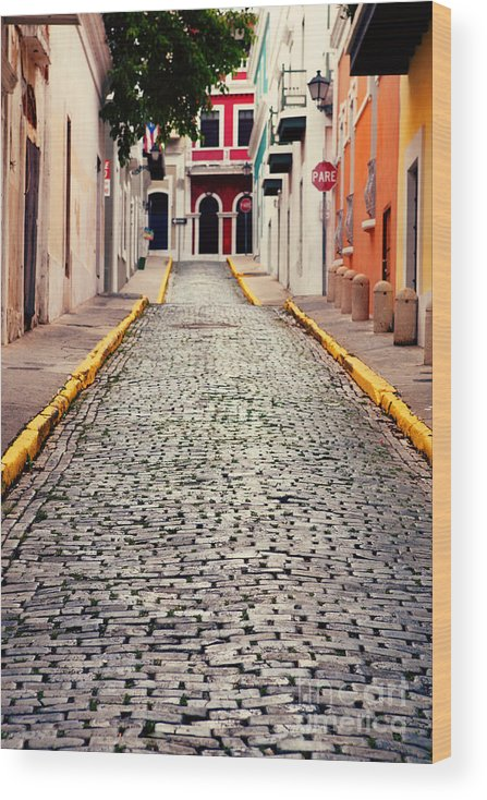 San Juan Wood Print featuring the photograph Old San Juan Puerto Rico by Kim Fearheiley